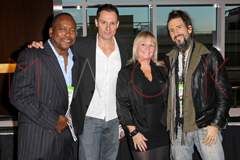 "ATLANTIC CITY, NJ - OCTOBER 14:  Billy Sample, Keith Collins, Geri Reischl and Ron ÒBumblefootÓ Thal attend the world premiere of ""The Meat Puppet"" at the Golden Nugget Hotel & Casino on October 14, 2012 in Atlantic City, New Jersey.  (Photo by Steve Mack/S.D. Mack Pictures)"