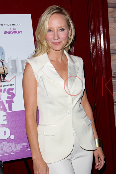 """NEW YORK, NY - OCTOBER 19:  Anne Heche attends """"That's What She Said"""" premiere party at The Griffin on October 19, 2012 in New York City.  (Photo by Steve Mack/S.D. Mack Pictures)"""