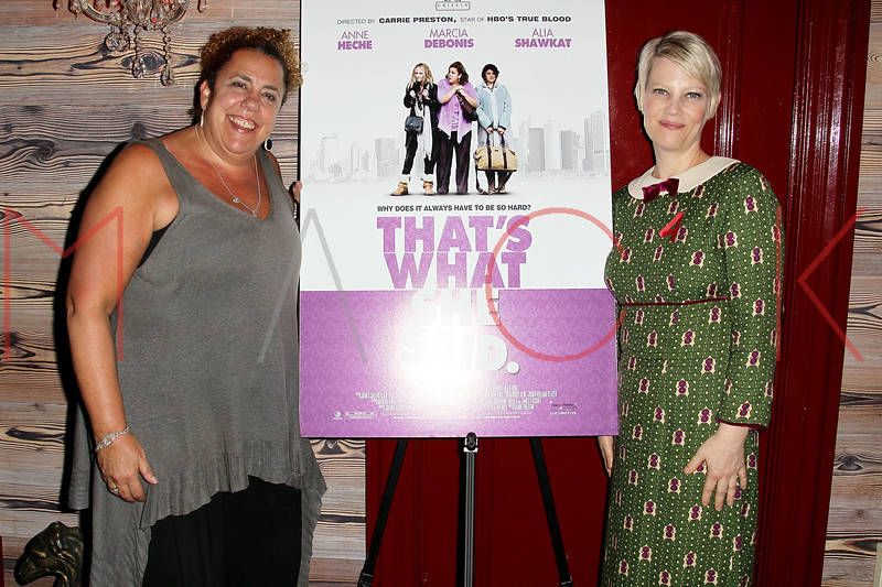 "NEW YORK, NY - OCTOBER 19:  Marcia DeBonis and Kellie Overbey attend ""That's What She Said"" premiere party at The Griffin on October 19, 2012 in New York City.  (Photo by Steve Mack/S.D. Mack Pictures)"