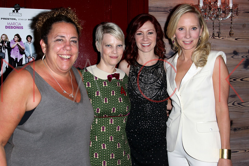 "NEW YORK, NY - OCTOBER 19:  Marcia DeBonis, Kellie Overbey, Carrie Preston, Director and Anne Heche attend ""That's What She Said"" premiere party at The Griffin on October 19, 2012 in New York City.  (Photo by Steve Mack/S.D. Mack Pictures)"
