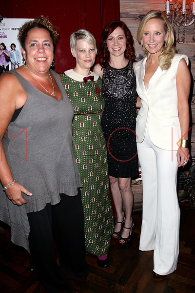 """NEW YORK, NY - OCTOBER 19:  Marcia DeBonis, Kellie Overbey, Carrie Preston, Director and Anne Heche attend """"That's What She Said"""" premiere party at The Griffin on October 19, 2012 in New York City.  (Photo by Steve Mack/S.D. Mack Pictures)"""