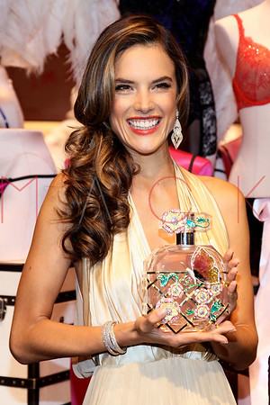NEW YORK, NY - OCTOBER 18:  Alessandra Ambrosio attends 2012 Victoria's Secret Fantasy Bra reveal at Herald Square on October 18, 2012 in New York City.