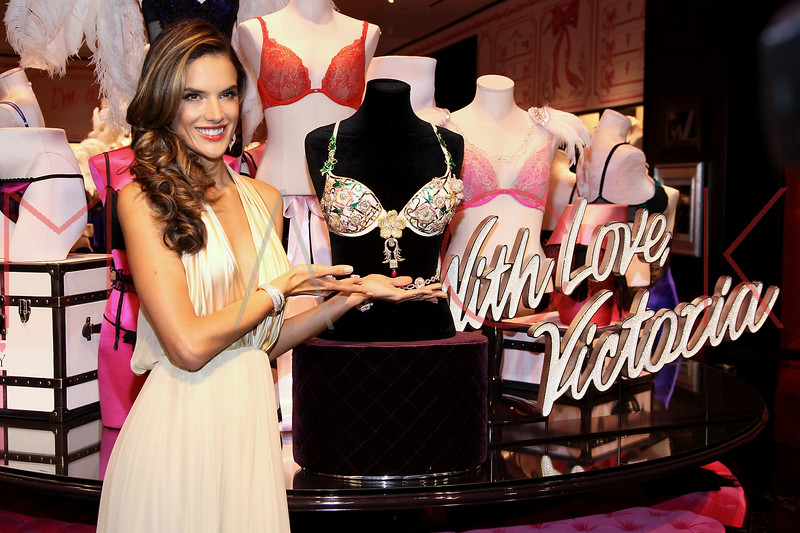 NEW YORK, NY - OCTOBER 18:  Alessandra Ambrosio attends 2012 Victoria's Secret Fantasy Bra reveal at Herald Square on October 18, 2012 in New York City.  (Photo by Steve Mack/S.D. Mack Pictures)