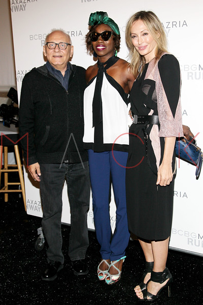 NEW YORK, NY - SEPTEMBER 06:  Max Azria, Estelle and Lubov Azria attend the  BCBGMAXAZRIA Spring 2013 Mercedes-Benz Fashion Week Show at The Theatre Lincoln Center on September 6, 2012 in New York City.  (Photo by Steve Mack/S.D. Mack Pictures)