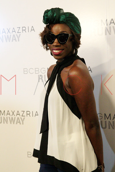 NEW YORK, NY - SEPTEMBER 06:  Estelle attends the  BCBGMAXAZRIA Spring 2013 Mercedes-Benz Fashion Week Show at The Theatre Lincoln Center on September 6, 2012 in New York City.  (Photo by Steve Mack/S.D. Mack Pictures)