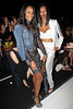 NEW YORK, NY - SEPTEMBER 06:  DJ Kiss and Jessica White attend the  BCBGMAXAZRIA Spring 2013 Mercedes-Benz Fashion Week Show at The Theatre Lincoln Center on September 6, 2012 in New York City.  (Photo by Steve Mack/S.D. Mack Pictures)