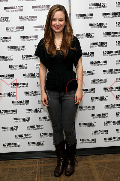 "NEW YORK, NY - SEPTEMBER 20:  Molly Ranson attends ""Bad Jews"" Cast Photo Call on September 20, 2012 in New York City.  (Photo by Steve Mack/S.D. Mack Pictures)"