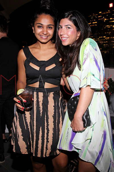 NEW YORK, NY - SEPTEMBER 06:  Sohni Patel and Claudine DeSola at Sky Room on September 6, 2012 in New York City.  (Photo by Steve Mack/Getty Images for Caravan)