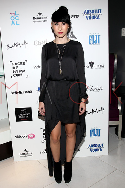 NEW YORK, NY - SEPTEMBER 06:   Ellie Innocenti of Deluka at Sky Room on September 6, 2012 in New York City.  (Photo by Steve Mack/Getty Images for Caravan)