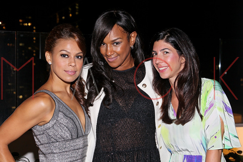 NEW YORK, NY - SEPTEMBER 06:  Toni Trucks, Jackie Christie and Claudine DeSola at Sky Room on September 6, 2012 in New York City.  (Photo by Steve Mack/Getty Images for Caravan)