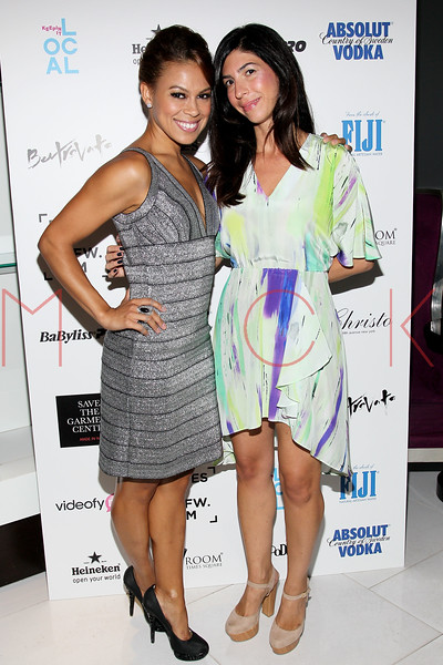 NEW YORK, NY - SEPTEMBER 06:  Toni Trucks and Claudine DeSola at Sky Room on September 6, 2012 in New York City.  (Photo by Steve Mack/Getty Images for Caravan)
