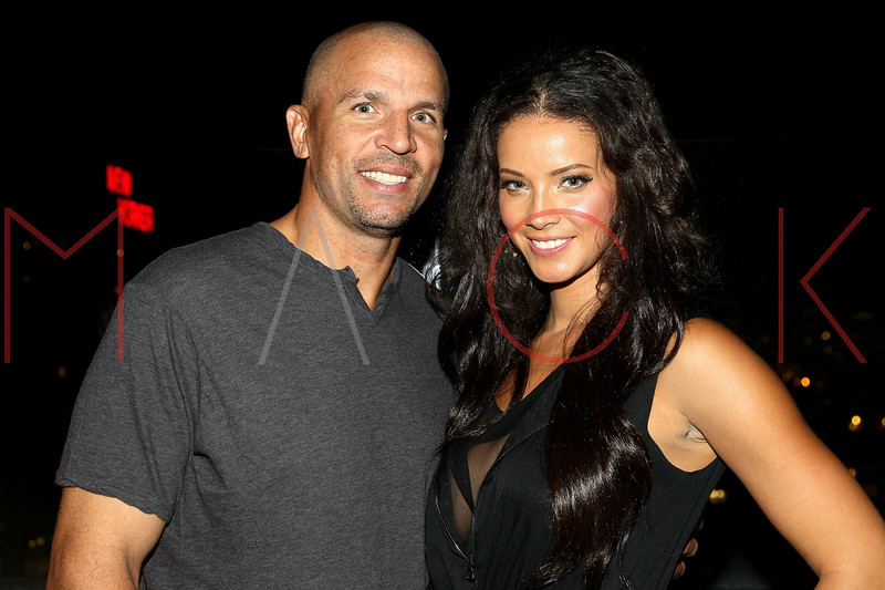 NEW YORK, NY - SEPTEMBER 06:  Jason Kidd and Porschla Coles at Sky Room on September 6, 2012 in New York City.  (Photo by Steve Mack/Getty Images for Caravan)