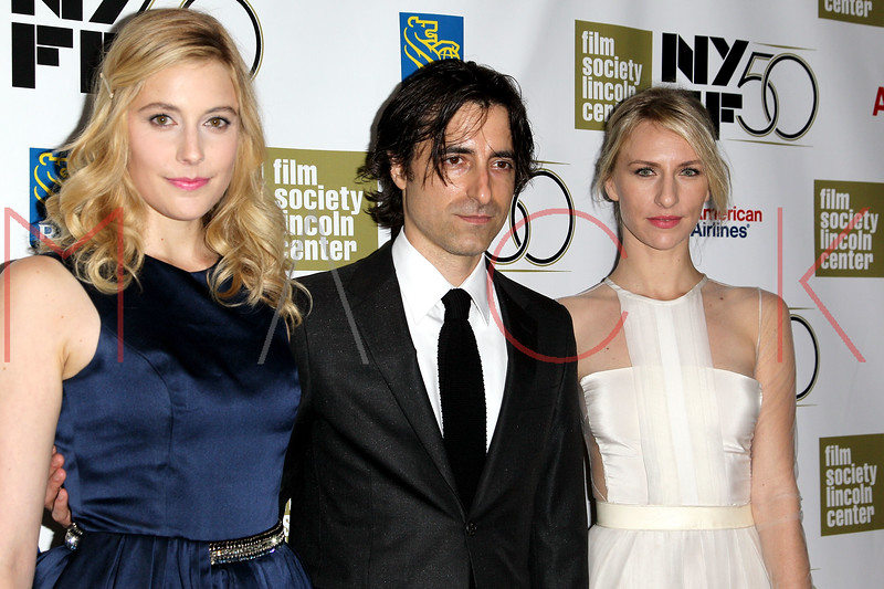"NEW YORK, NY - SEPTEMBER 30:  Greta Gerwig, Noah Baunbach and Mickey Sumner attend the ""Frances HA"" premiere during the 50th New York Film Festival at Alice Tully Hall on September 30, 2012 in New York City.  (Photo by Steve Mack/S.D. Mack Pictures)"