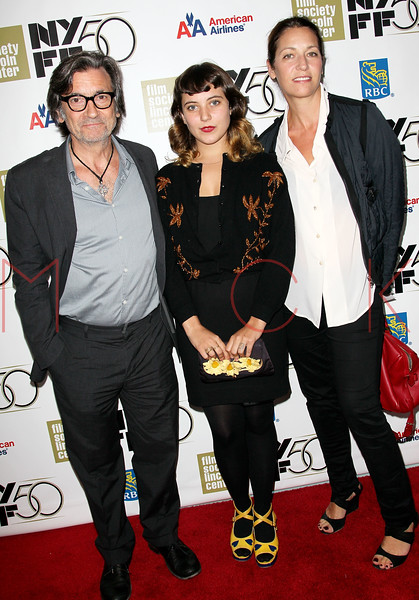 "NEW YORK, NY - SEPTEMBER 30:  Griffin Dunne, Hannah Dunne and Anna Bingemann attend the ""Frances HA"" premiere during the 50th New York Film Festival at Alice Tully Hall on September 30, 2012 in New York City.  (Photo by Steve Mack/S.D. Mack Pictures)"