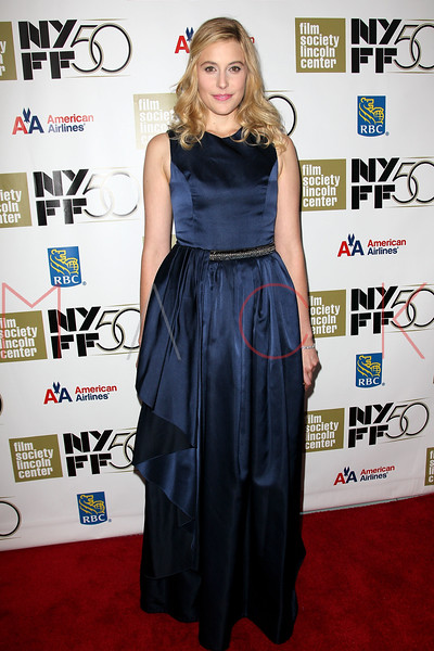 """NEW YORK, NY - SEPTEMBER 30:  Greta Gerwig attends the """"Frances HA"""" premiere during the 50th New York Film Festival at Alice Tully Hall on September 30, 2012 in New York City.  (Photo by Steve Mack/S.D. Mack Pictures)"""