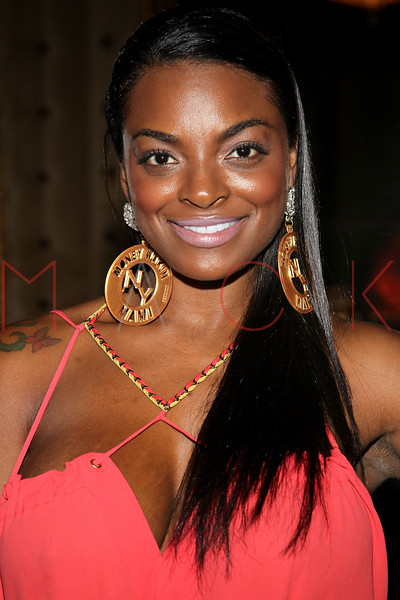 NEW YORK, NY - SEPTEMBER 08:  Brooke Bailey of Basketball Wives of LA attends Jackie Christie's New York 2013 Fashion Week Cocktail Reception on September 8, 2012 in New York City.  (Photo by Steve Mack/S.D. Mack Pictures)
