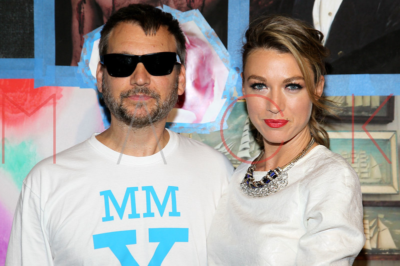 NEW YORK, NY - SEPTEMBER 10:  Designer Johnson Hartig and Natalie Zea attend the Libertine Spring 2013 Mercedes-Benz Fashion Week Show at Pier 57 on September 10, 2012 in New York City.  (Photo by Steve Mack/S.D. Mack Pictures)