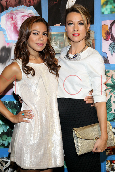 NEW YORK, NY - SEPTEMBER 10:  Toni Trucks and Natalie Zea attends the Libertine Spring 2013 Mercedes-Benz Fashion Week Show at Pier 57 on September 10, 2012 in New York City.  (Photo by Steve Mack/S.D. Mack Pictures)