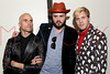 NEW YORK, NY - SEPTEMBER 18:  Tyler Glenn, Branden Campbell and Chris Allen of Neon Trees back stage at Steve Madden Music Summer Series at Steve Madden on September 18, 2012 in New York City.  (Photo by Steve Mack/S.D. Mack Pictures)