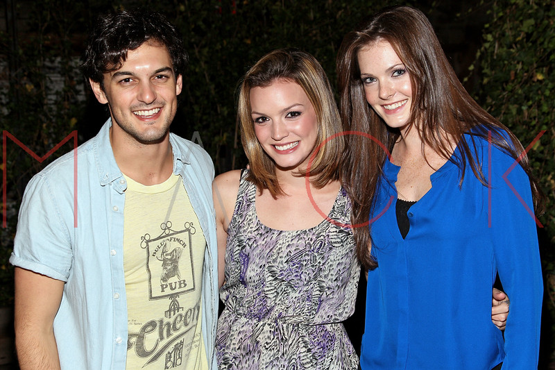 NEW YORK, NY - SEPTEMBER 20:  Wesley Taylor, Jennifer Damiano and Megan Fahey attend The Opening Night Of Gallow Green at Gallow Green at the McKittrick Hotel on September 20, 2012 in New York City.  (Photo by Steve Mack/S.D. Mack Pictures)
