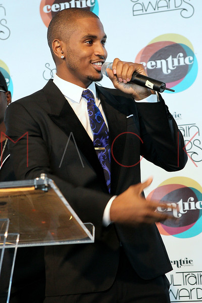 NEW YORK, NY - SEPTEMBER 19:  Trey Songz attends the Soul Train Awards 2012 press conference at the Glass Houses on September 19, 2012 in New York City.  (Photo by Steve Mack/S.D. Mack Pictures)
