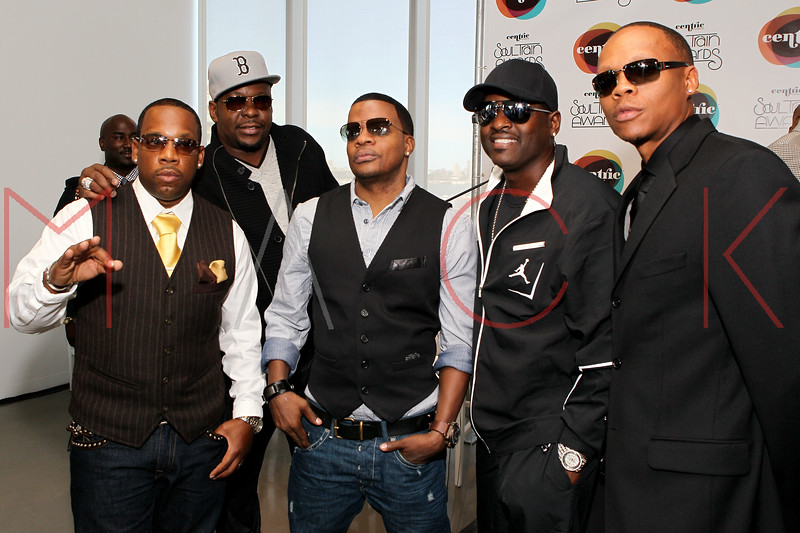 NEW YORK, NY - SEPTEMBER 19:  Mike Bivins, Bobby Brown, Ricky Bell, Johnny Gill and Ronnie Devoe attend the Soul Train Awards 2012 press conference at the Glass Houses on September 19, 2012 in New York City.  (Photo by Steve Mack/S.D. Mack Pictures)