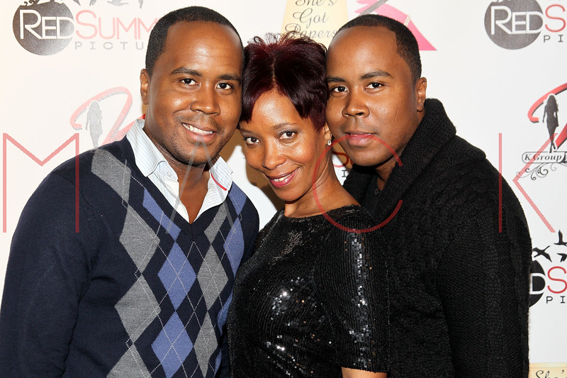 NEW YORK, NY - SEPTEMBER 28:  Antoine Von Boozier, Cindy Folson and Andre Von Boozier attend the Spread Love The Brooklyn Way After Concert Gala at Sanders Studio Loft on September 28, 2012 in the Brooklyn borough of New York City.  (Photo by Steve Mack/S.D. Mack Pictures)