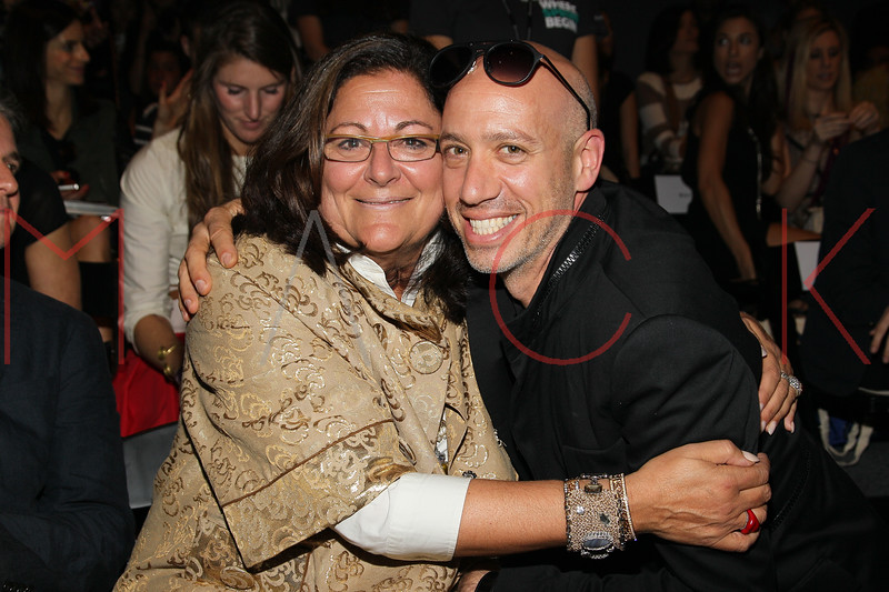 NEW YORK, NY - SEPTEMBER 09:  Fern Mallis and Robert Verdi attend the Timo Weiland Spring 2013 Mercedes-Benz Fashion Week Show at The Studio at Lincoln Center on September 9, 2012 in New York City.  (Photo by Steve Mack/S.D. Mack Pictures)