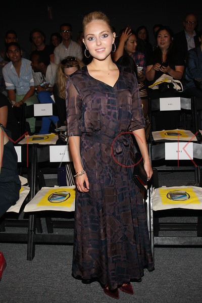 NEW YORK, NY - SEPTEMBER 09:  Annasophia Robb attends the Timo Weiland Spring 2013 Mercedes-Benz Fashion Week Show at The Studio at Lincoln Center on September 9, 2012 in New York City.  (Photo by Steve Mack/S.D. Mack Pictures)