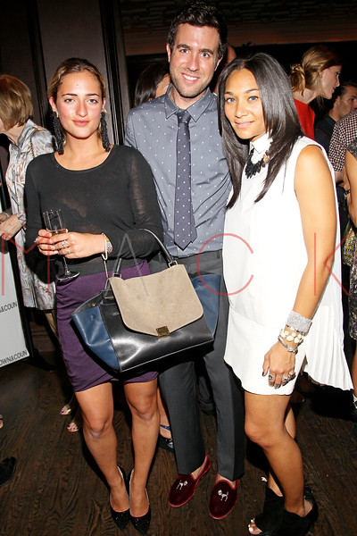 NEW YORK, NY - SEPTEMBER 05:  Annabelle Caufman Soudavar, Kristian Laliberte and Monica Pean attends Town & Country Editor-In-Chief Anniversary Party on September 5, 2012 in New York City.  (Photo by Steve Mack/S.D. Mack Pictures)