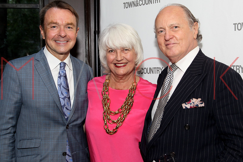 NEW YORK, NY - SEPTEMBER 05:  Michael Clinton, Ellen Levine and Mario Buatta attend Town & Country Editor-In-Chief Anniversary Party on September 5, 2012 in New York City.  (Photo by Steve Mack/S.D. Mack Pictures)