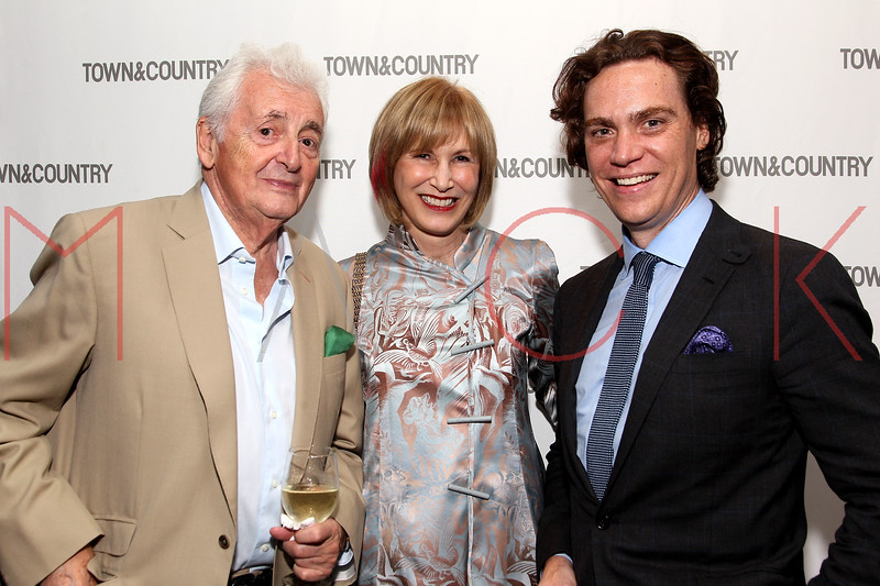 NEW YORK, NY - SEPTEMBER 05:  Harry Benson, Valerie Salembier and Jay Fielden attend Town & Country Editor-In-Chief Anniversary Party on September 5, 2012 in New York City.  (Photo by Steve Mack/S.D. Mack Pictures)