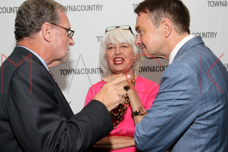 NEW YORK, NY - SEPTEMBER 05:  Peter Greenberg, Ellen Levine and Michael Clinton attend Town & Country Editor-In-Chief Anniversary Party on September 5, 2012 in New York City.  (Photo by Steve Mack/S.D. Mack Pictures)