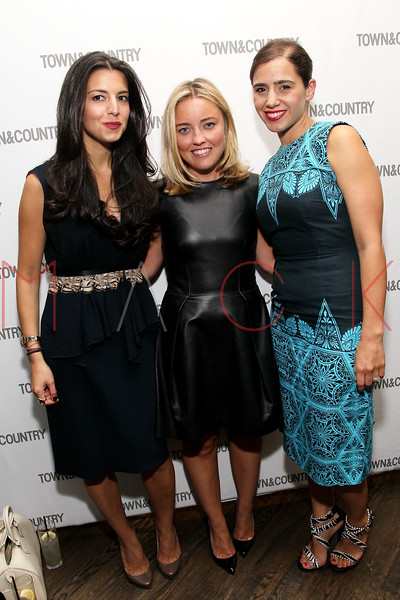 NEW YORK, NY - SEPTEMBER 05:  Shira Suveyke, Elizabeth Tuke and Ceanne Wong attend Town & Country Editor-In-Chief Anniversary Party on September 5, 2012 in New York City.  (Photo by Steve Mack/S.D. Mack Pictures)