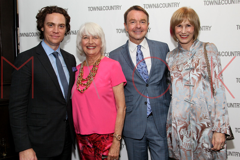 NEW YORK, NY - SEPTEMBER 05:  Jay Fielden, Ellen Levine, Michael Clinton and Valerie Salembier attend Town & Country Editor-In-Chief Anniversary Party on September 5, 2012 in New York City.  (Photo by Steve Mack/S.D. Mack Pictures)