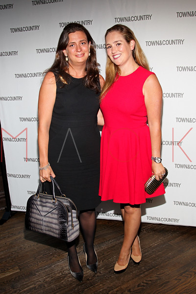 NEW YORK, NY - SEPTEMBER 05:  Georgina Schaeffer and Gillian Hearst attend Town & Country Editor-In-Chief Anniversary Party on September 5, 2012 in New York City.  (Photo by Steve Mack/S.D. Mack Pictures)