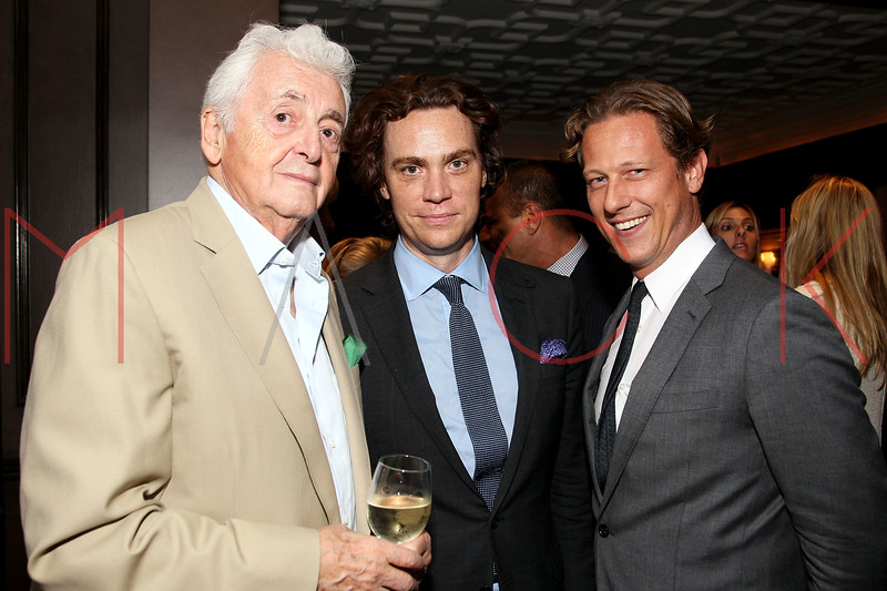 NEW YORK, NY - SEPTEMBER 05:  Harry Benson, Jay Fielden and Peter Malachi attend Town & Country Editor-In-Chief Anniversary Party on September 5, 2012 in New York City.  (Photo by Steve Mack/S.D. Mack Pictures)