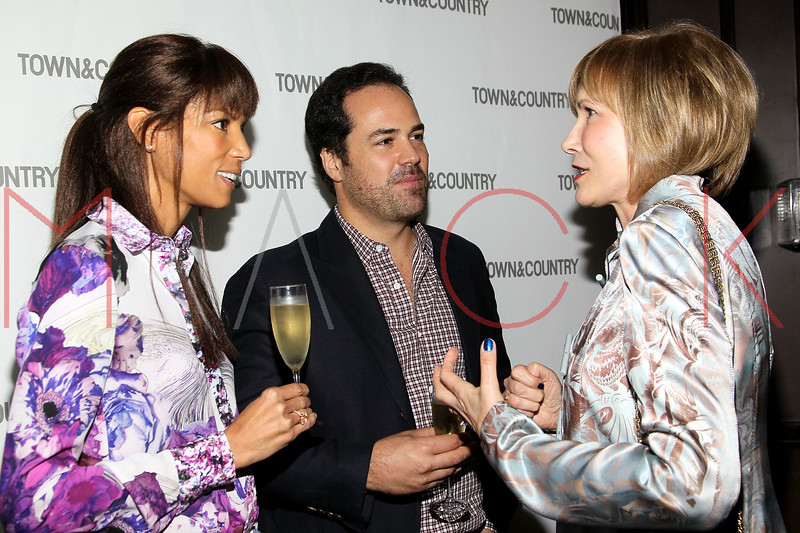 NEW YORK, NY - SEPTEMBER 05:  Veronica Webb, Chris Delgado and Valerie Salembier attend Town & Country Editor-In-Chief Anniversary Party on September 5, 2012 in New York City.  (Photo by Steve Mack/S.D. Mack Pictures)