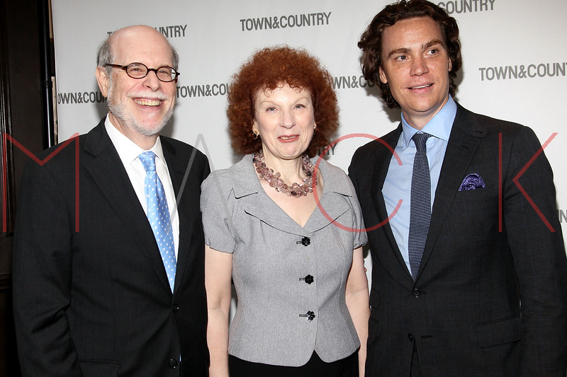 NEW YORK, NY - SEPTEMBER 05:  Harold Holzer, Edith Holzer and Jay Fielden attend Town & Country Editor-In-Chief Anniversary Party on September 5, 2012 in New York City.  (Photo by Steve Mack/S.D. Mack Pictures)