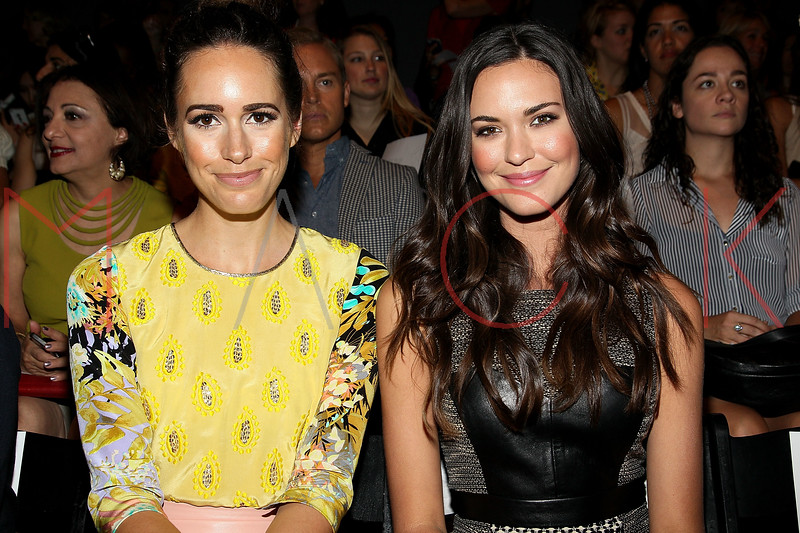 NEW YORK, NY - SEPTEMBER 09:  Louise Rowe and Odette Annable attend the Tracy Reese Spring 2013 Mercedes-Benz Fashion Week Show at The Studio Lincoln Center on September 9, 2012 in New York City.  (Photo by Steve Mack/S.D. Mack Pictures) *** Local Caption *** Louise Rowe; Odette Annable