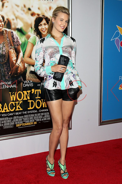 "NEW YORK, NY - SEPTEMBER 23:  Maggie Graves attends the ""Won't Back Down"" premiere at Ziegfeld Theater on September 23, 2012 in New York City.  (Photo by Steve Mack/S.D. Mack Pictures)"