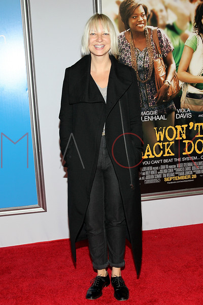 "NEW YORK, NY - SEPTEMBER 23:  Sia attends the ""Won't Back Down"" premiere at Ziegfeld Theater on September 23, 2012 in New York City.  (Photo by Steve Mack/S.D. Mack Pictures)"