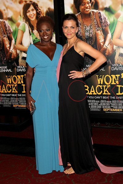"""NEW YORK, NY - SEPTEMBER 23:  Viola Davis and Maggie Gyllenhaal attend the """"Won't Back Down"""" premiere at Ziegfeld Theater on September 23, 2012 in New York City.  (Photo by Steve Mack/S.D. Mack Pictures)"""