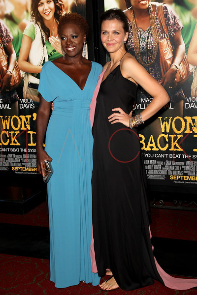 "NEW YORK, NY - SEPTEMBER 23:  Viola Davis and Maggie Gyllenhaal attend the ""Won't Back Down"" premiere at Ziegfeld Theater on September 23, 2012 in New York City.  (Photo by Steve Mack/S.D. Mack Pictures)"