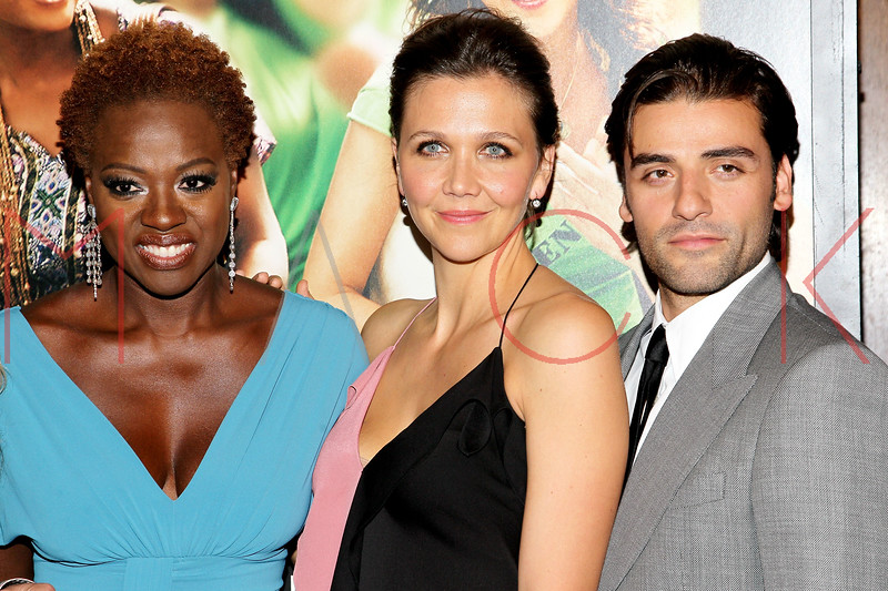 "NEW YORK, NY - SEPTEMBER 23:  Viola Davis, Maggie Gyllenhaal and Oscar Isaac attend the ""Won't Back Down"" premiere at Ziegfeld Theater on September 23, 2012 in New York City.  (Photo by Steve Mack/S.D. Mack Pictures)"