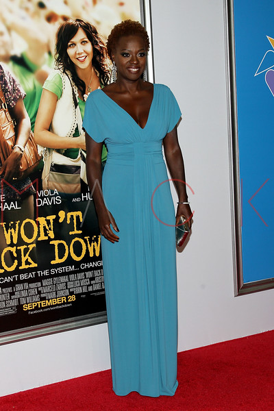 "NEW YORK, NY - SEPTEMBER 23:  Viola Davis attends the ""Won't Back Down"" premiere at Ziegfeld Theater on September 23, 2012 in New York City.  (Photo by Steve Mack/S.D. Mack Pictures)"