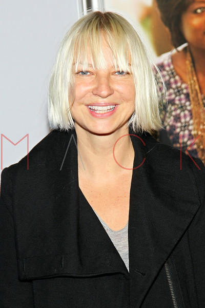 """NEW YORK, NY - SEPTEMBER 23:  Sia attends the """"Won't Back Down"""" premiere at Ziegfeld Theater on September 23, 2012 in New York City.  (Photo by Steve Mack/S.D. Mack Pictures)"""