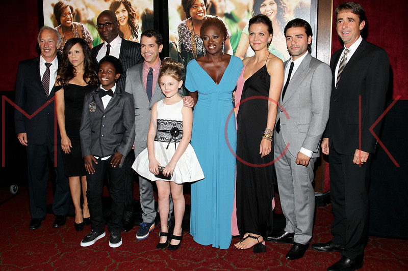"NEW YORK, NY - SEPTEMBER 23:  Giancarlo Giammetti, Rosie Perez, Lance Reddick, Dante Brown, Daniel Barnz, Emily Alyn Lind, Viola Davis, Maggie Gyllenhaal and Oscar Isaac attend the ""Won't Back Down"" premiere at Ziegfeld Theater on September 23, 2012 in New York City.  (Photo by Steve Mack/S.D. Mack Pictures)"