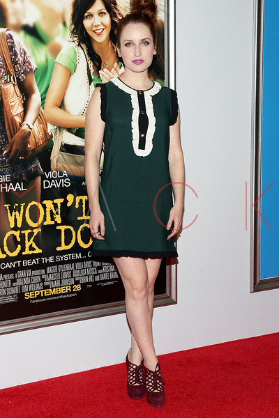 "NEW YORK, NY - SEPTEMBER 23:  Zoe Lister-Jones attends the ""Won't Back Down"" premiere at Ziegfeld Theater on September 23, 2012 in New York City.  (Photo by Steve Mack/S.D. Mack Pictures)"