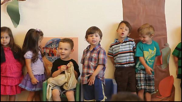 Luke's spring program for his two's class at preschool - Ho-Ho-Ho-Hosanna